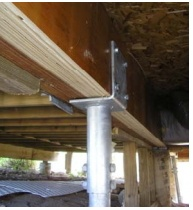 steel piers, lift beams, foundation support