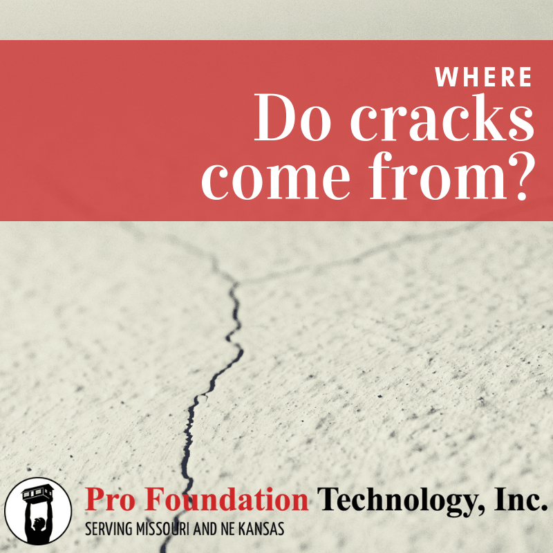 where do cracks come from blog graphic from pro foundation technology