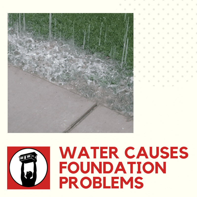 water causes foundation problems