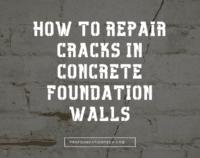 repair foundation wall cracks