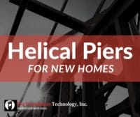 helical piers for new construction