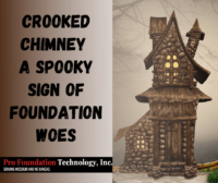 Witches house with crooked chimney